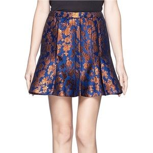 J. Crew Collection Fluted Skirt Copper Bloom - 4